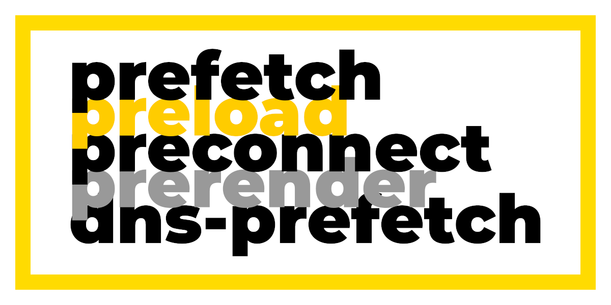 Preload, prefetch and other link tags: what they do and when to use them · PerfPerfPerf